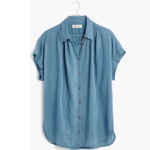 Madewell short sleeve Chambray top size xxs